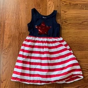 Girls red, white and blue dress
